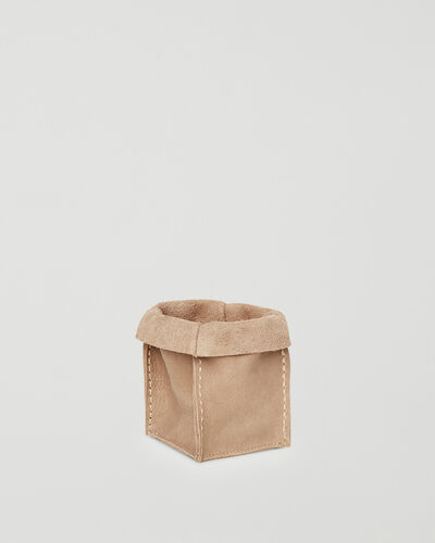 Roots-Leather Leather Accessories-Small Rollover Basket Tribe-Sand-A