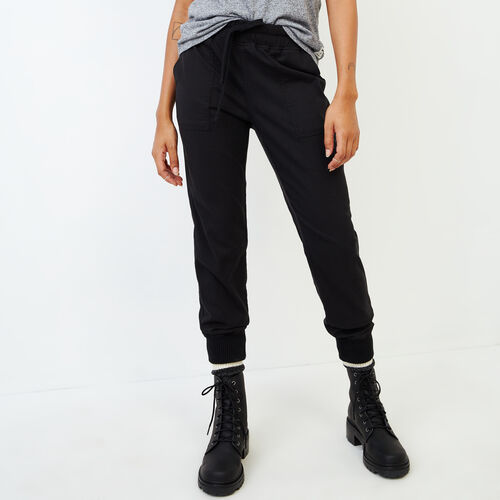 Roots-Women Categories-Essential Jogger-Black-A
