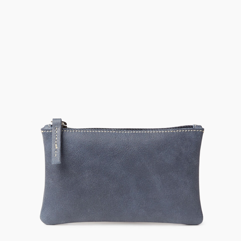 Roots-Leather New Arrivals-Medium Zip Pouch-Navy-A