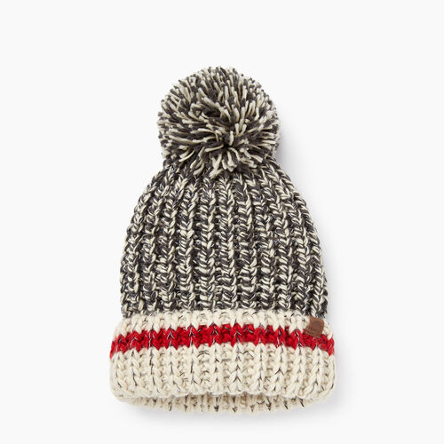 Roots-New For November The Roots Cabin Collection™-Chunky Cabin Pom Pom Toque-Grey Oat Mix-A
