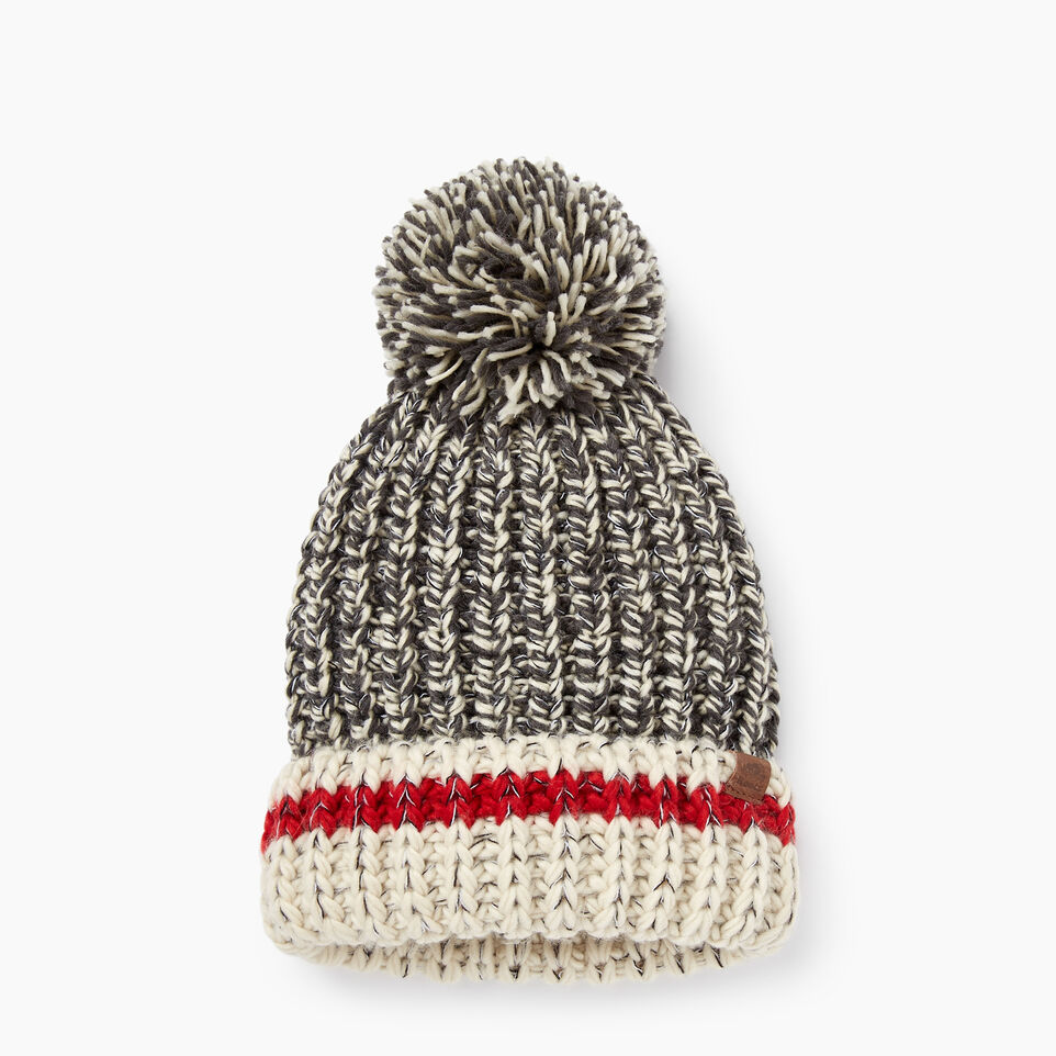 Roots-Chunky Cabin Pom Pom Toque