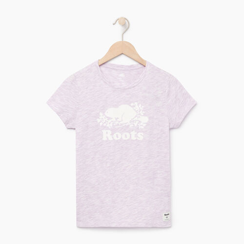 Roots-Clearance Kids-Girls Roots Space Dye T-shirt-Lavendula-A