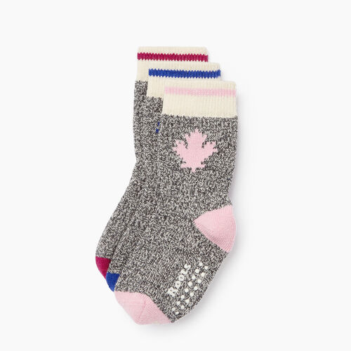 Roots-Kids Categories-Toddler Maple Cabin Sock 3 Pack-Multi-A