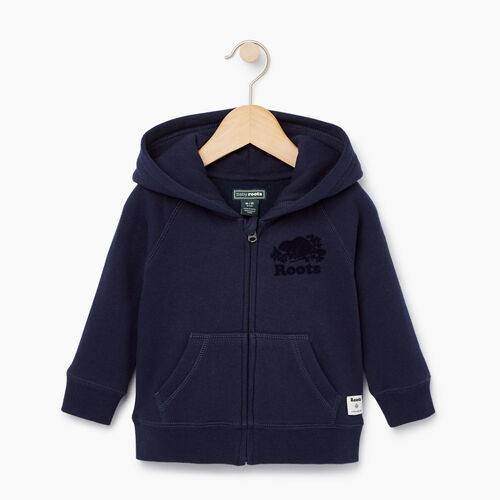 Roots-Kids Our Favourite New Arrivals-Baby Original Full Zip Hoody-Navy Blazer-A