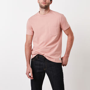 Roots-New For March Men-7 Oz Jersey Pocket T-shirt-Canyon Clay-A