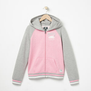 Roots-Kids Girls-Girls RBC Varsity Full Zip Hoody-Sea Pink Mix-A
