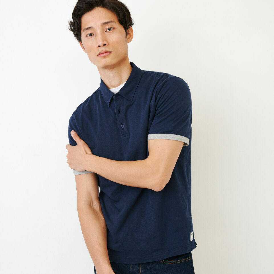 Roots-Men Our Favourite New Arrivals-Slub Jersey Polo-Navy Blazer-A