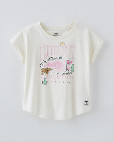 Roots-Kids Girls-Girls RBA Outdoors T-shirt-Egret-A