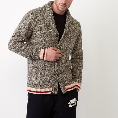 Roots-Men Our Favourite New Arrivals-Roots Cotton Cabin Cardigan-Speckle-A