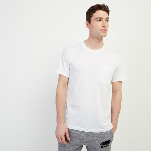 Roots-Men Clothing-Essential Pocket T-shirt-Crisp White-A