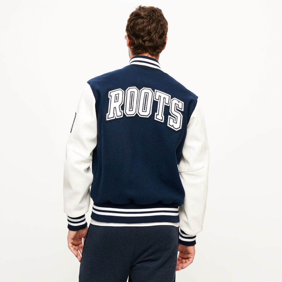 Roots-Men Award Jackets-Vintage Award Jacket-Navy-D