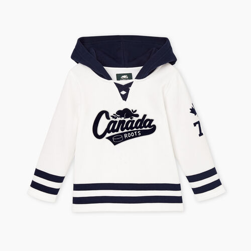 Roots-Kids Tops-Toddler Canada Hockey Hoody-Crisp White-A