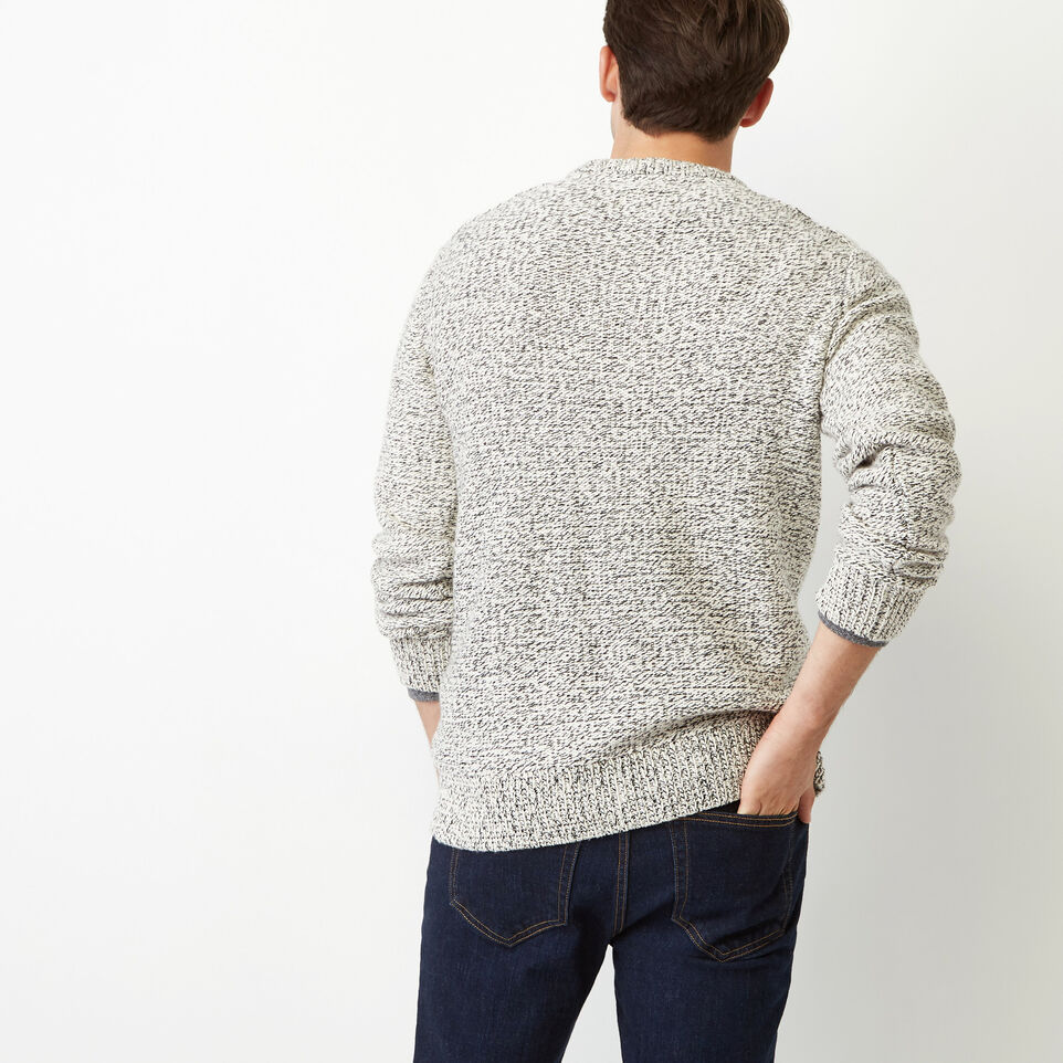 Roots-Winter Sale Men-Snowy Fox Crew Sweater-Snowy Fox-D
