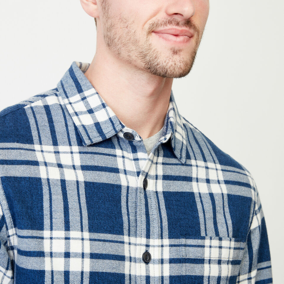Roots-Men Shirts & Polos-Northlands Flannel Shirt-Active Blue-E