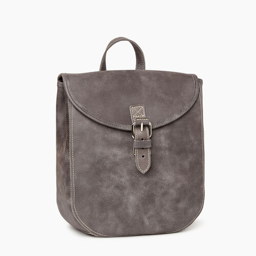 Roots-Leather Backpacks-Little Nells Backpack-Charcoal-A