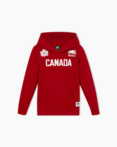 Roots-Sale Boys-Boy Canada Kanga Hoody-Sage Red-A