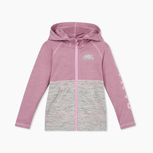 Roots-Sweats Toddler Girls-Toddler Lola Active Full Zip Hoody-Valerian Mix-A