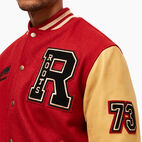 Roots-Men Clothing-Roots Script Award Jacket-Red-E