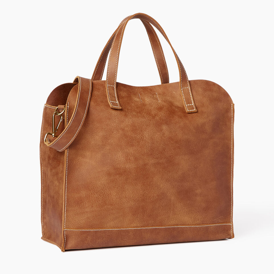 Roots-Leather Our Favourite New Arrivals-Junction Tote-Natural-C