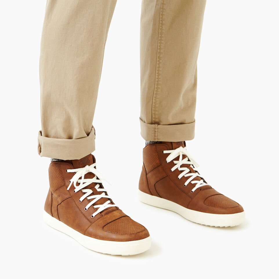 Roots-Footwear Men's Footwear-Mens Ossington Hightop-Natural-B