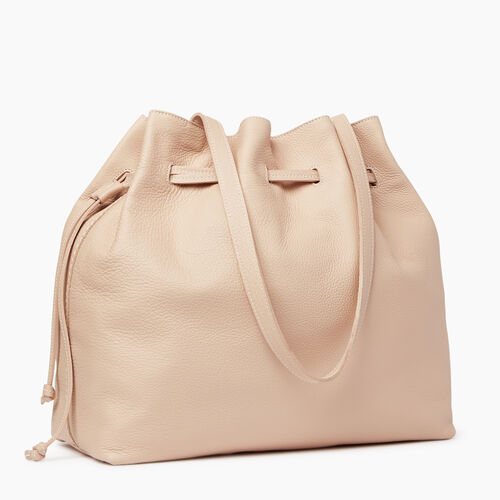 Roots-Clearance Leather-Sherbrooke Tote-Pink Mist-A