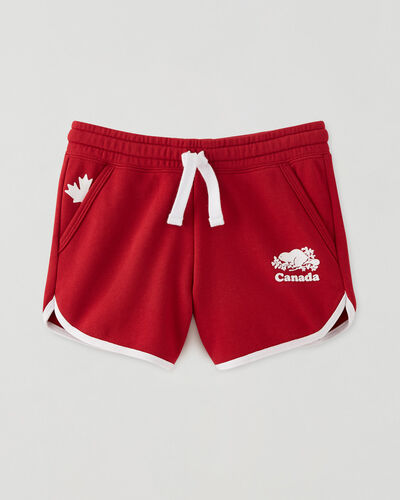 Roots-Sweats Girls-Girls Canada Ringer Short-Sage Red-A