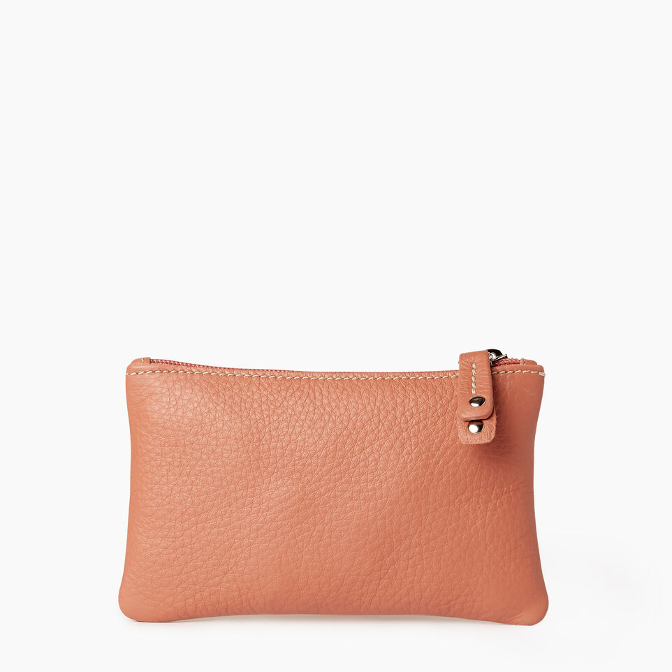 Roots-Leather  Handcrafted By Us Categories-Medium Zip Pouch-Canyon Rose-A