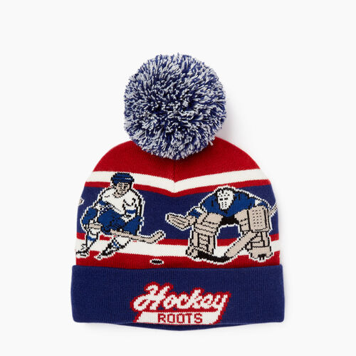 Roots-Winter Sale Boys-Kids Hockey Toque-Blue Depths-A