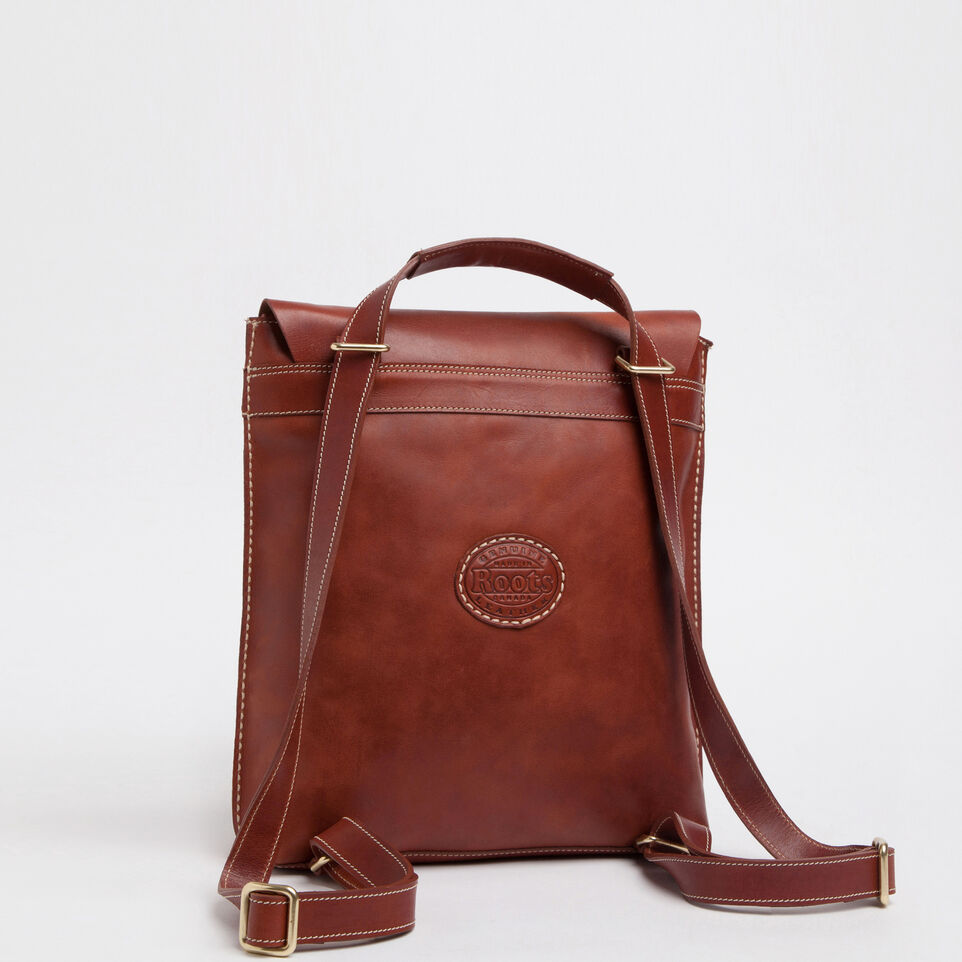 Roots Leather Backpack Click Backpacks