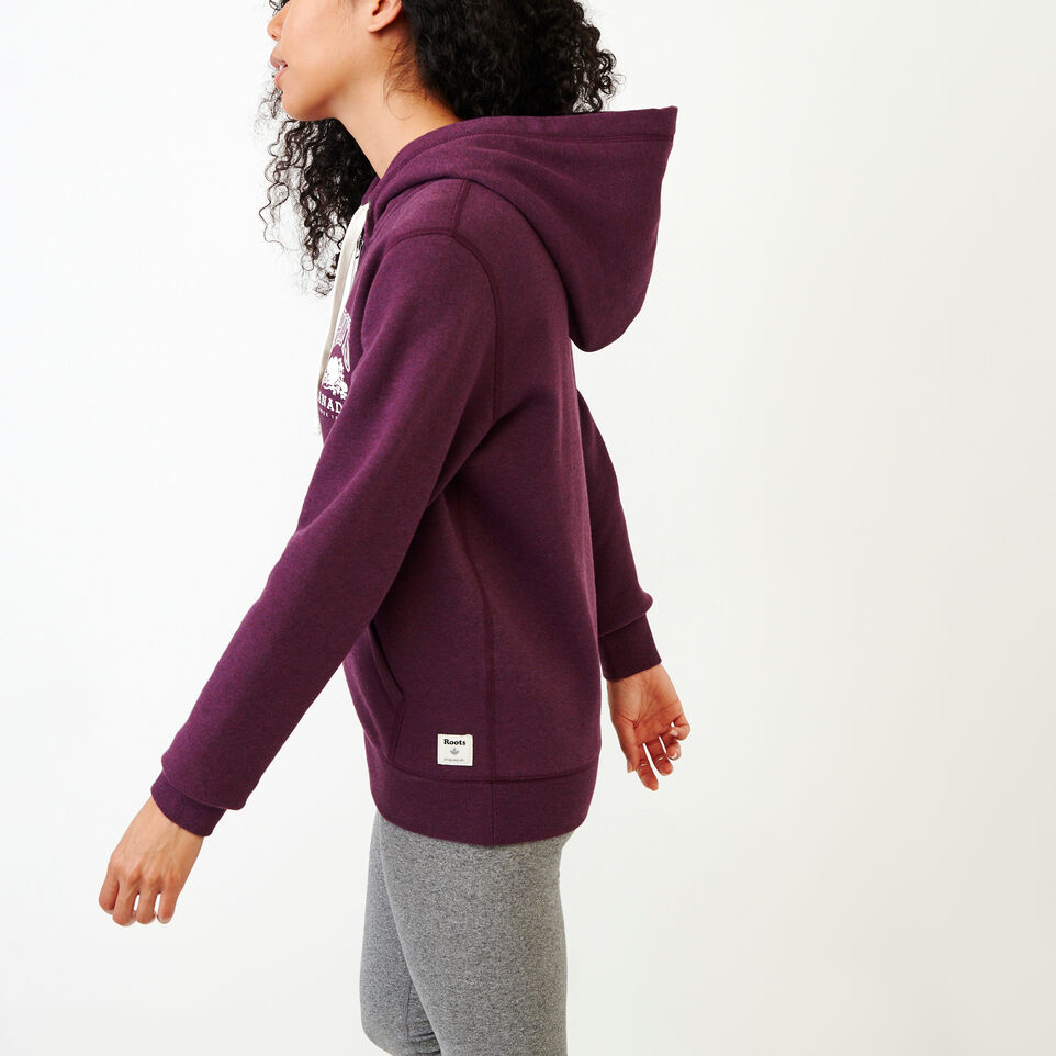 Roots-Women Clothing-Classic Full Zip Hoody-Pickled Beet Mix-C