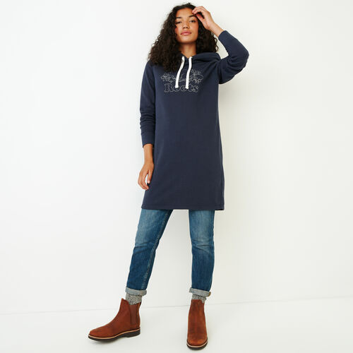 Roots-Women Our Favourite New Arrivals-Red Deer Dress-Graphite Mix-A