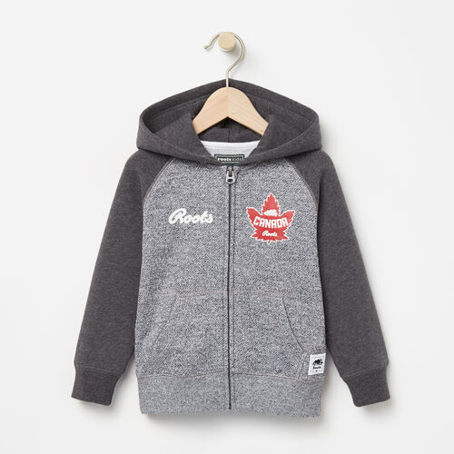 Roots-Kids Canada Collection-Toddler Heritage Canada Full Zip Hoody-Salt & Pepper-A