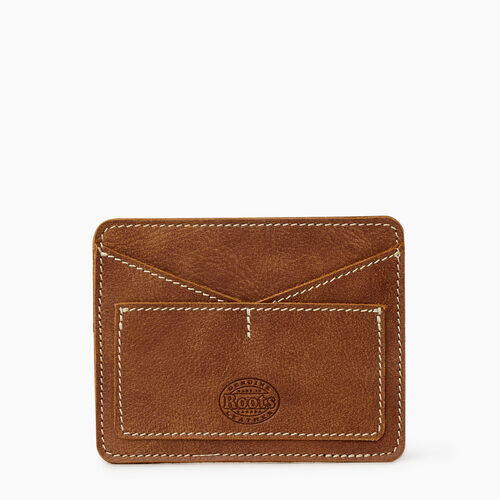 Roots-Leather Leather Accessories-Passport Card Holder Tribe-Natural-A