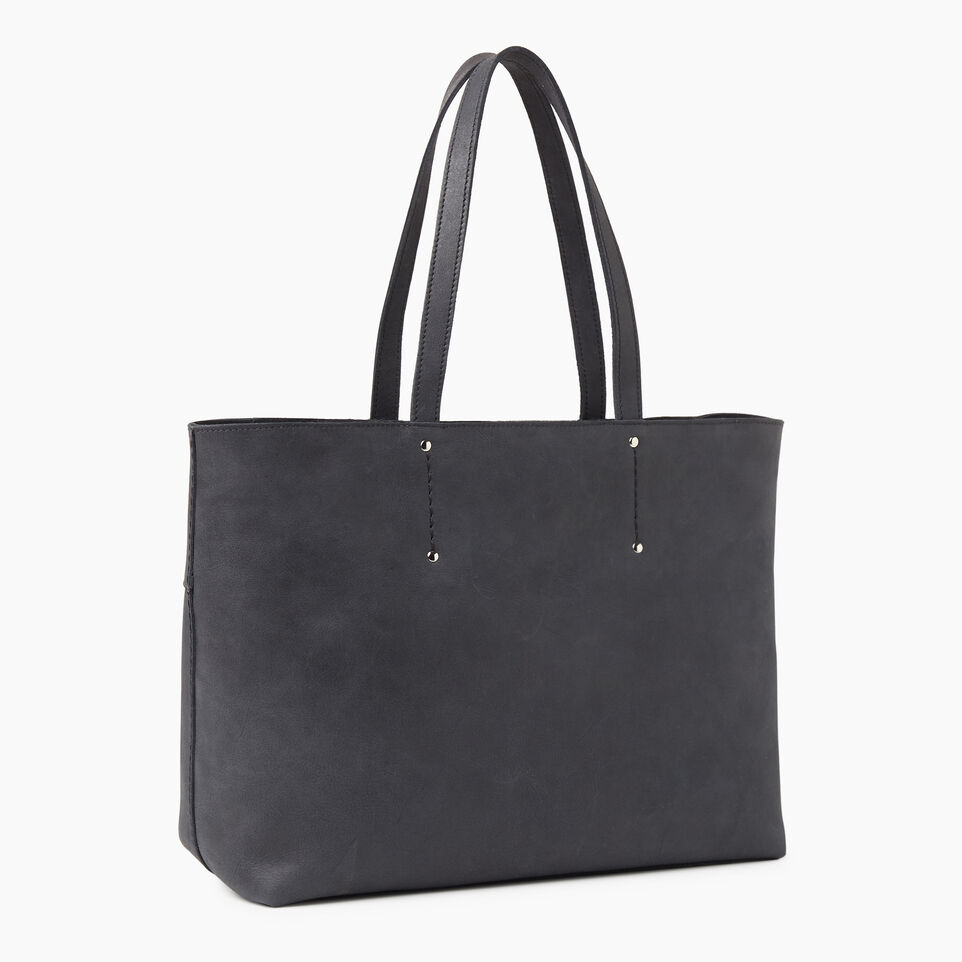 Roots-Leather New Arrivals-Westmount Tote Tribe-Jet Black-C