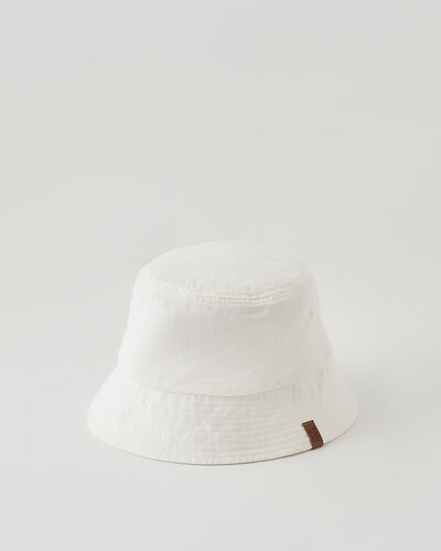 Roots-Women Hats-Roots Outdoors Bucket Hat-Ivory-A