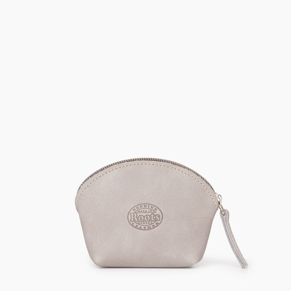 Roots-Leather Small Leather Goods-Small Euro Pouch-Sterling Grey-B