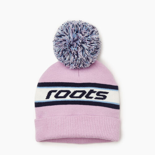 Roots-Kids Our Favourite New Arrivals-Kids Speedy Pom Pom Toque-Purple-A