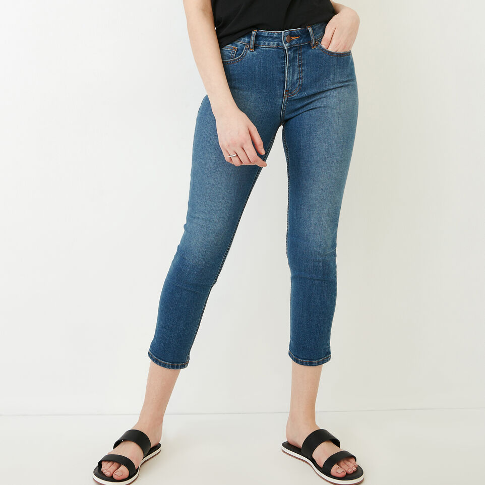 Roots-Women Our Favourite New Arrivals-Cropped Stretch Riley Jean-Med Denim Blue-A