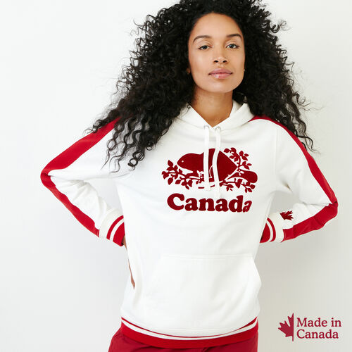 Roots-Women Canada Collection By Roots™-Canada Kanga Hoody-Ivory-A