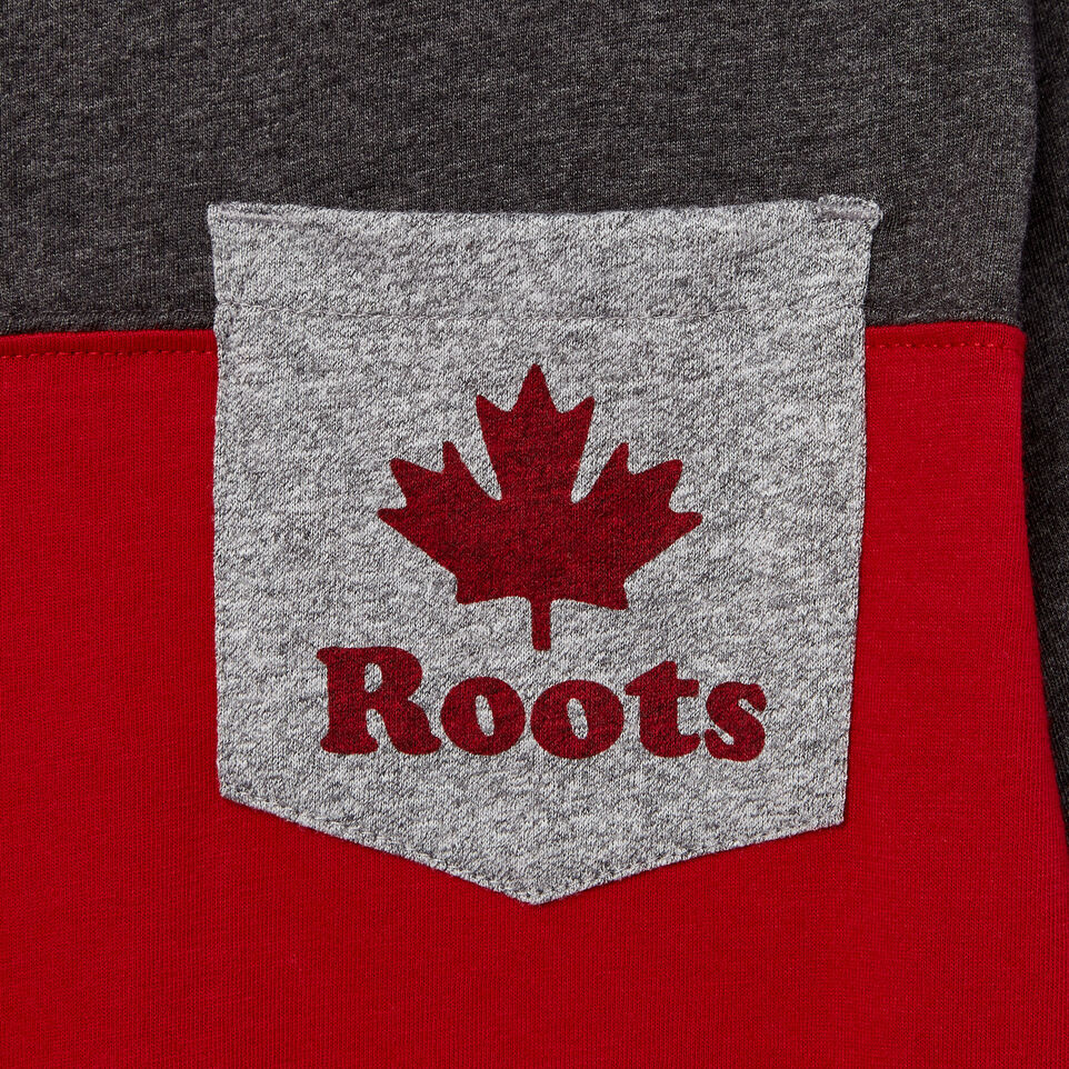 Roots-undefined-Boys Colourblock Pocket T-Shirt-undefined-D