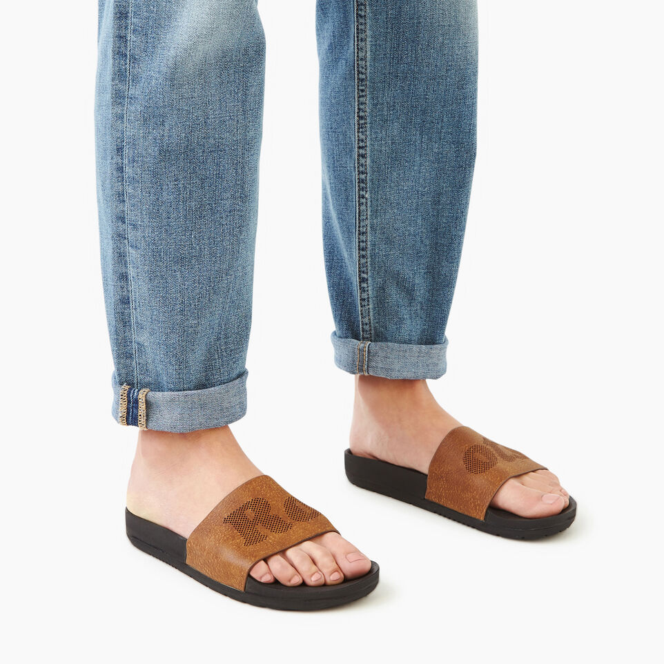 Roots-Footwear Our Favourite New Arrivals-Womens Long Beach Pool Slide-Natural-B