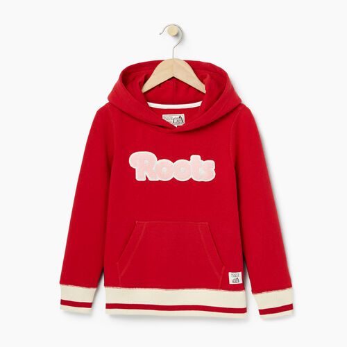 Roots-Kids Girls-Girls Cabin Kanga Hoody-Cabin Red-A