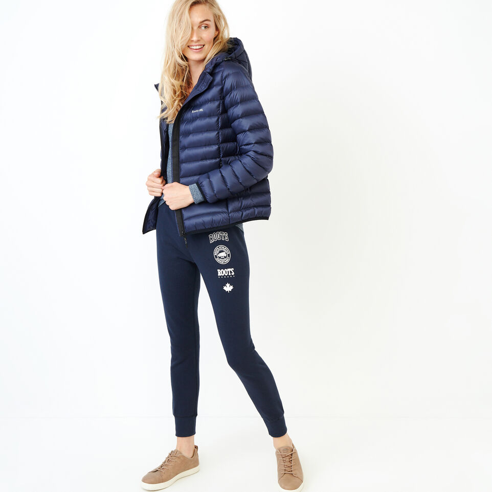 Roots-Women Our Favourite New Arrivals-Stamps Slim Sweatpant-Navy Blazer-B