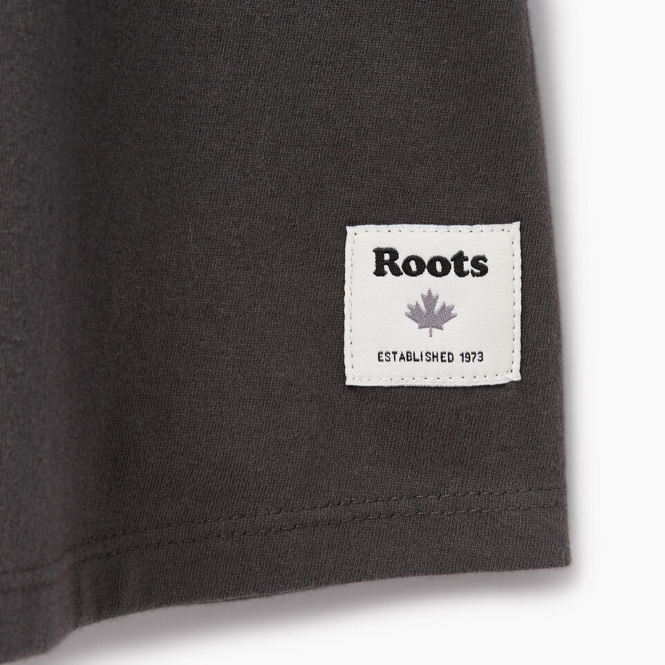 Roots-New For June Kids-Girls Swing T-shirt-Coal Grey-C