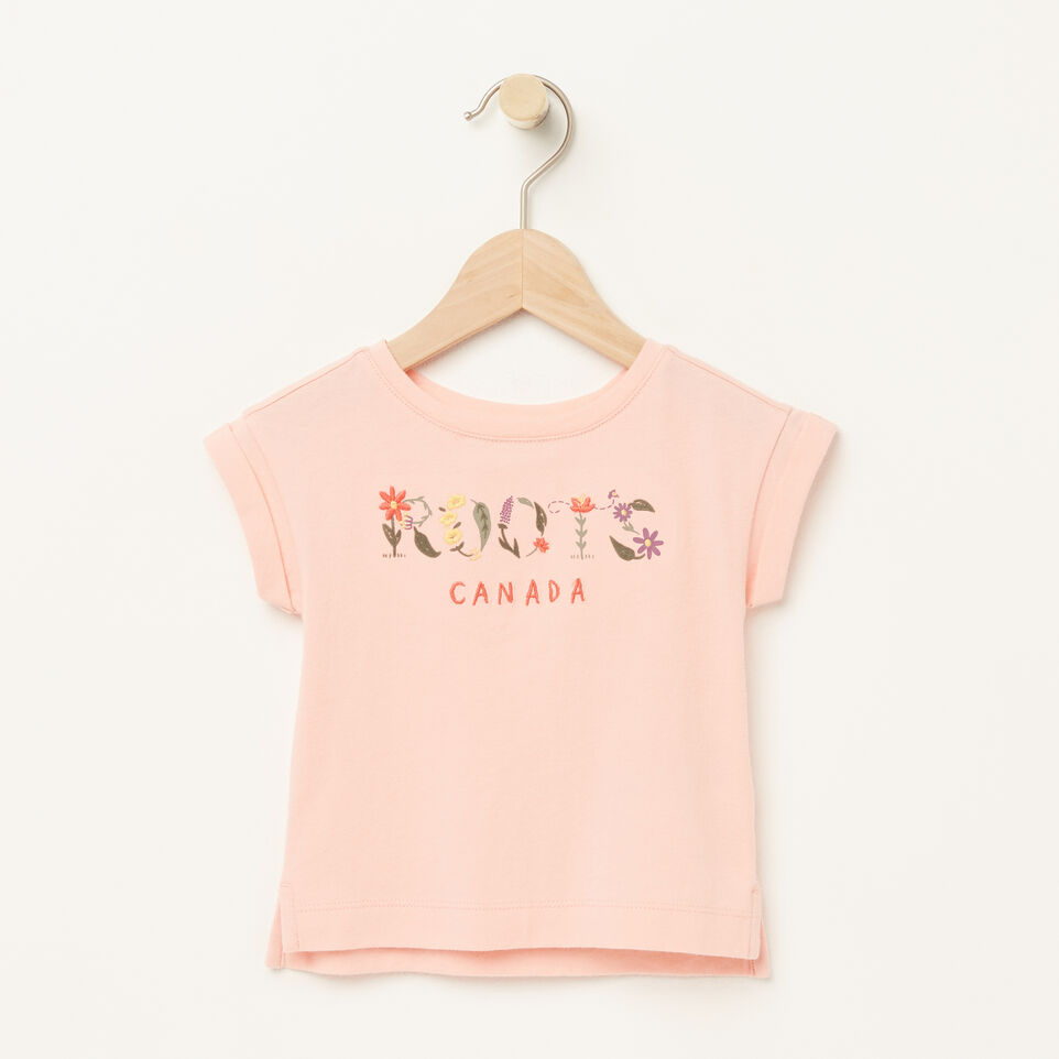 Roots-Baby Floral Boxy T-shirt