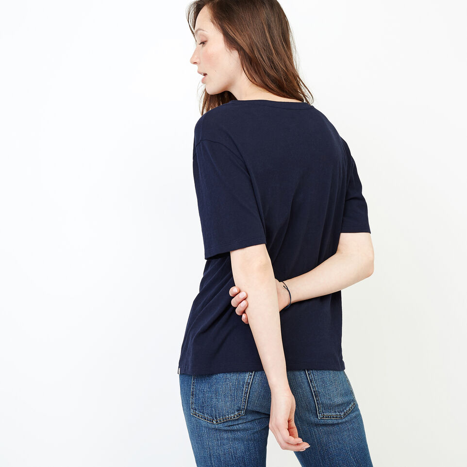 Roots-New For August Women-Penny Top-Navy Blazer-D