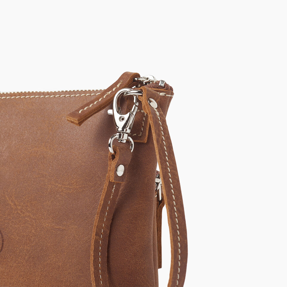 Roots-Leather  Handcrafted By Us Our Favourite New Arrivals-Double Zip Wristlet-Natural-E