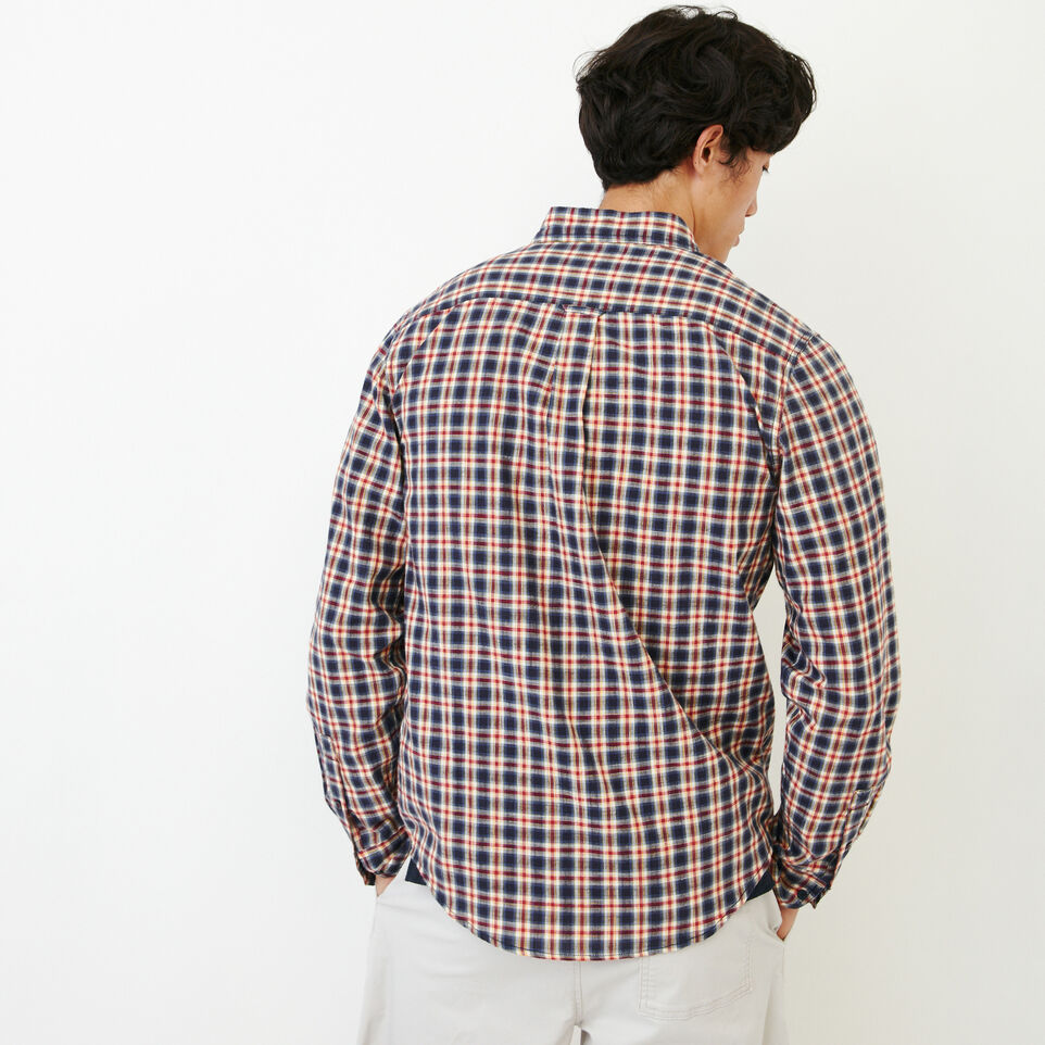 Roots-Men Our Favourite New Arrivals-Windermere Long Sleeve Shirt-Sage Red-D