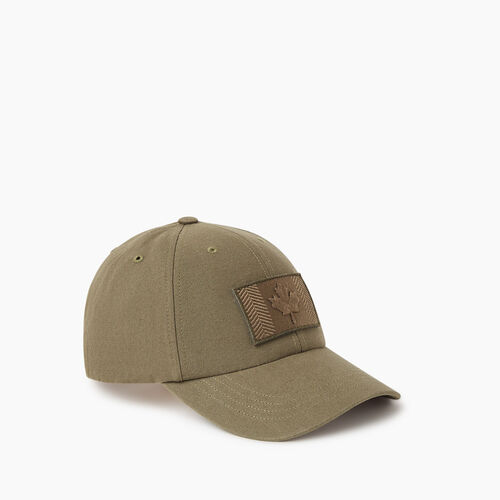 Roots-Men Accessories-Modern Flag Baseball Cap-Fatigue-A