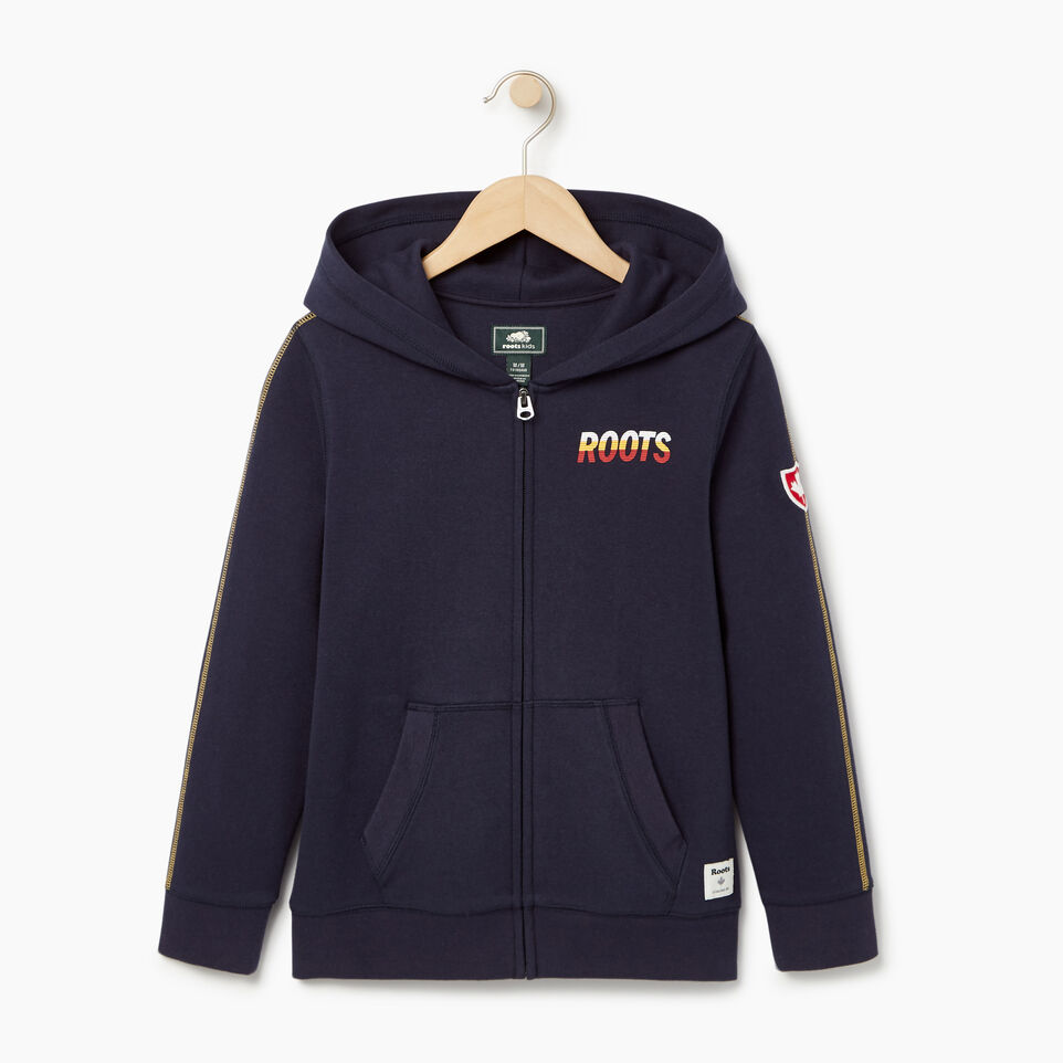 Roots-Kids Our Favourite New Arrivals-Boys Roots Speedy Full Zip Hoody-Navy Blazer-A